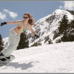 Ski and Snowboard Photos: Bikini Snowboarder