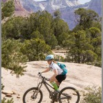 Mountain Bike Photos: Guacamole Slickrock With Zion National Park In the Background