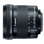 New Canon 10-18mm f/4.5-5.6 IS STM Wide-Angle Zoom Lens - Side View