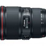 New Canon 16-35mm f/4L IS Wide-Angle Zoom Lens - Side View