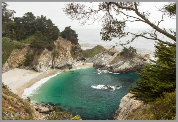 McWay Falls On An Overcast Day