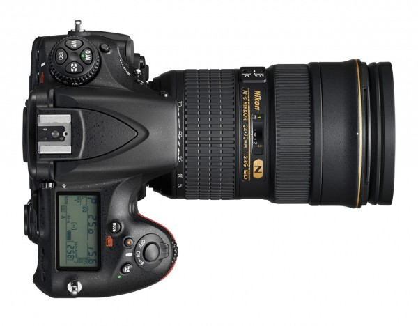 Nikon D810 DSLR - Top View
