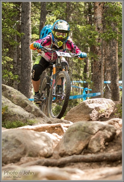 Elinor Wesner In the Rocks - Colorado Enduro World Series