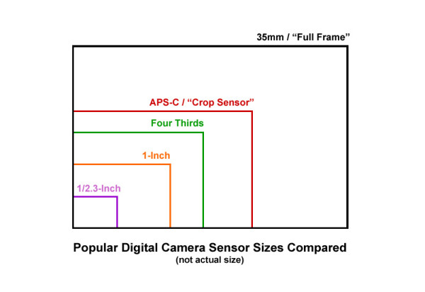 Popular Digital Camera Sensor Sizes