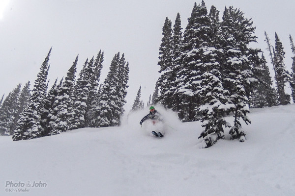 Matt Wilson, charging some deep Alta powder. This is a cropped framegrab from a video I recorded with the new Sony 4k Action Cam.