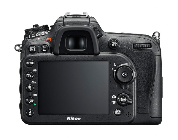 Nikon D7200 DSLR - Rear View