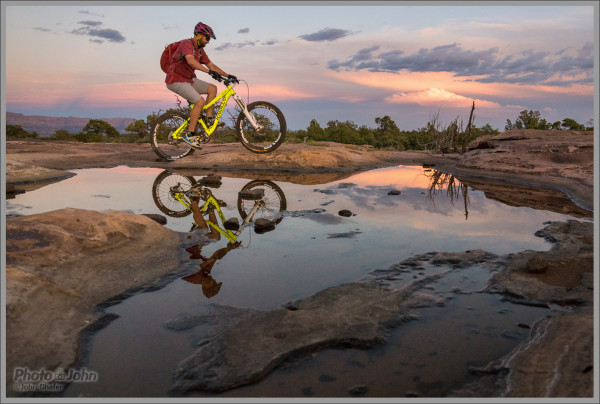 Little Creek Mountain Bike Sunset Reflection