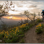 Spring Sunset - Fine Art Mountain Bike Photography