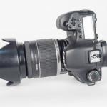 Canon EOS 7D DSLR & 18-200mm IS Zoom Lens - Top View
