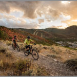 Park City Mountain Bikers at Sunset - Best Photos of 2016