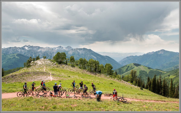 Mountain Bikers on the Wasatch Crest Trail - Best Photos of 2016