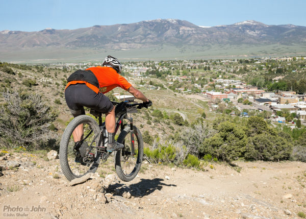 Mountain Biker on Whorehouse Hill