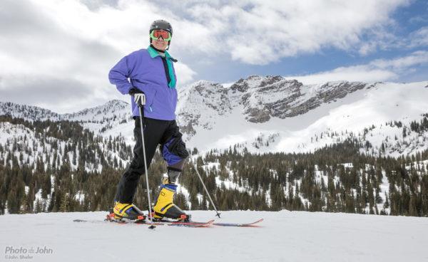 Adaptive Skier, Greg Hansen at Alta Ski Area