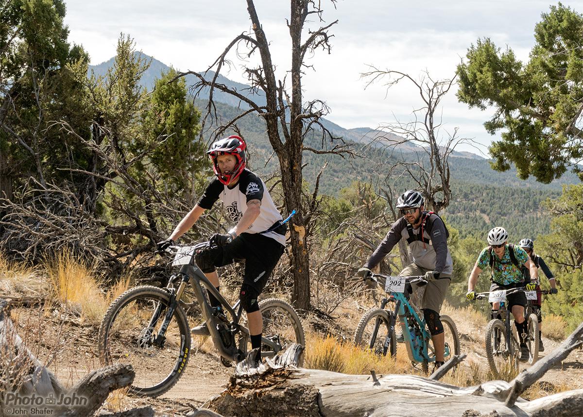 Mountain bikers on Ely, Nevada's G Loop